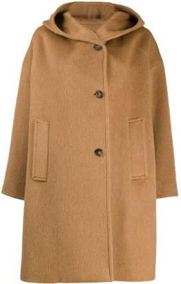 Alberto Biani hooded single-breasted coat