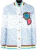 House of Holland Heart Varsity bomber jacket - women - Cotton/Polyamide/Polyester/Rayon - 10