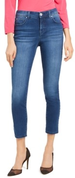 INC International Concepts Inc Petite Skinny Tummy-Control Ankle Jeans, Created for Macy's