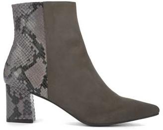 Mint Velvet Olivia Grey Snake Ankle Boots