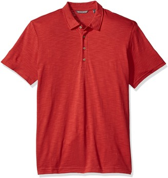 Michael Bastian Men's Short Sleeve Cotton Slub Polo Shirt