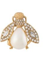 Christian Dior pre-owned rhinestone embellished fly brooch