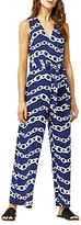 Warehouse Chain Print Jumpsuit, Blue