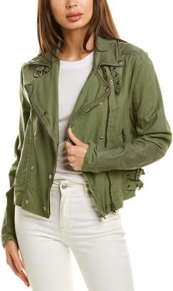 Jakett Harlie Leather-Trim Jacket