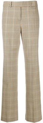 MICHAEL Michael Kors Checked Straight-Leg Trousers