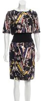 Oscar de la Renta Floral Print Sheath Dress