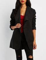 Charlotte Russe Wide Collar Belted Jacket