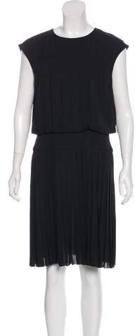 Chanel Pleated Silk Dress