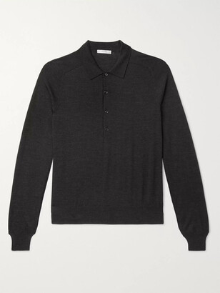 The Row Dylan Merino Wool Polo Shirt - Men - Black