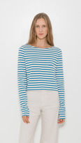 Organic by John Patrick Long Sleeve 1-Pocket Crop Tee
