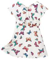 My Michelle mymichelle Butterfly Print Ruffle Top Dress (Big Girls)