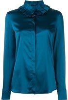 Capucci ruffle collar shirt - women - Silk/Spandex/Elastane - 42