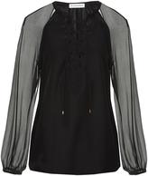 Altuzarra Benny cut-out silk blouse