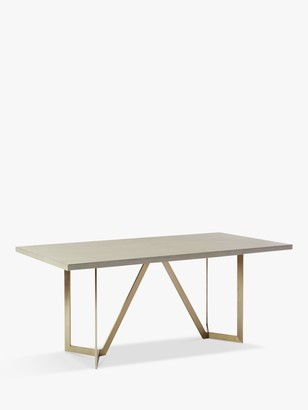 west elm Tower 6 Seater Dining Table, Grey