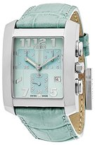 Fendi Women's 'Classico' Swiss Quartz Stainless Steel and Leather Dress Watch, Color:Green (Model: F751133)