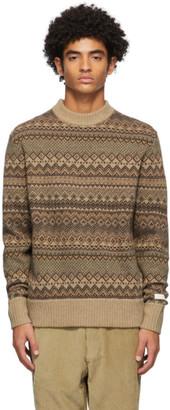 Aimé Leon Dore Brown Fair Isle Sweater