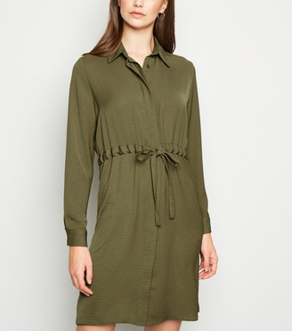 New Look Light Drawstring Waist Shirt Dress