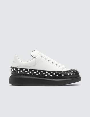Alexander McQueen Studded Raised-sole Low-top Leather Trainers