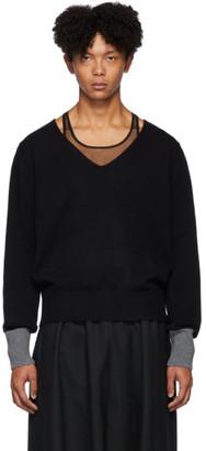 Random Identities Black Morse Code Sweater