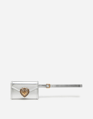 Dolce & Gabbana Devotion Belt Bag In Nappa Mordore Leather