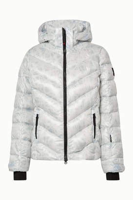 Bogner Fire & Ice BOGNER BOGNER FIREICE - Sassy2 Hooded Printed Quilted Down Ski Jacket - White
