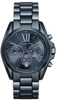 Michael Kors Bradshaw Chronograph Blue IP Stainless Steel Bracelet Watch