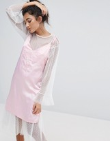 Lazy Oaf Dream On Satin Cami Dress