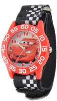 Disney Lightning McQueen Cars Kids Black White Nylon Strap Watch
