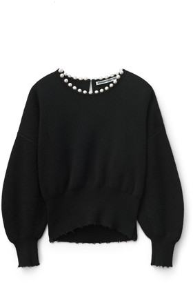 Collection Pearl Necklace Pullover