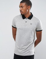 Hollister Athleisure Polo Shirt With Contrast Collar In Grey