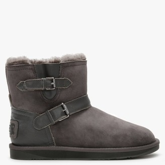 Australia Luxe Collective La Machina X Short Grey Double-Face Sheepskin Ankle Boots