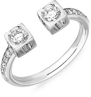 Dinh Van Le Cube Diamond 18K White Gold Ring
