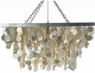 Bay Isle Home Rhoda 3 - Light Unique / Statement Geometric Chandelier with Seashell Accents
