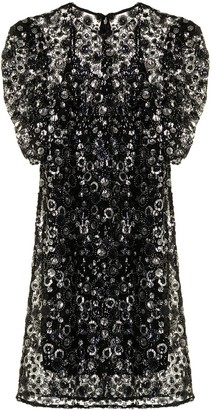 MICHAEL Michael Kors Sequin-Embellished Puff-Sleeve Dress