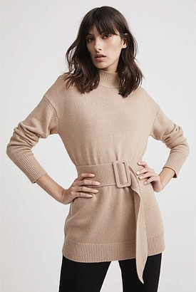Witchery Belted High Neck Knit