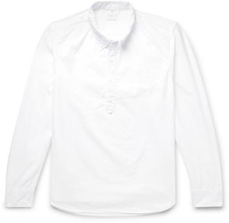 SAVE KHAKI UNITED Button-Down Collar Cotton Half-Placket Shirt