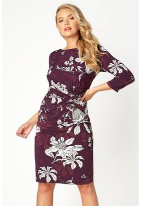 M&Co Roman Originals floral twist waist dress