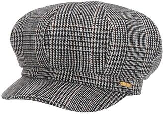 San Diego Hat Company CTH8167 Glen Plaid Baker Boy Cap (Black) Caps