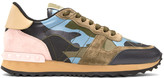 Valentino Green & Blue Camo Rockrunner Sneakers