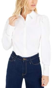Bar III Becca Tilley x Victorian Puff-Sleeve Top, Created For Macy's