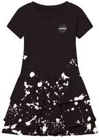 Nununu Black Splash Layered Dress