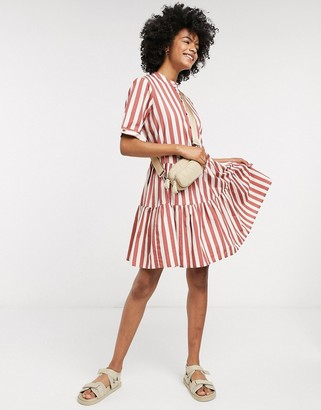 Vero Moda smock shirt dress in stripe
