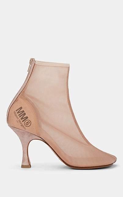 MM6 MAISON MARGIELA Women's Mesh Ankle Boots - Beige, Tan