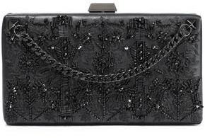 Valentino Garavani Embellished Leather Box Clutch