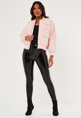 Missguided Petite Pink Bomber Jacket