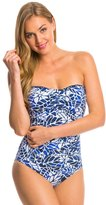 Jag South Pacific Shirred Bandeau One Piece Swimsuit 7538181