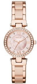Relics by Fossil Women's Selma Rose Gold and Blush Pink Watch