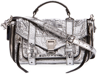 Proenza Schouler PS1+ Tiny Metallic Leather Satchel Bag