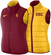 Nike Women's Gold/Cardinal USC Trojans Shield Puffer Reversible Full-Zip Vest