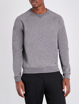 HUGO BOSS Slim-fit cotton-blend jersey jumper